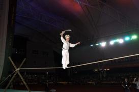 Accrobat opening ceremony