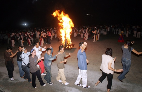Big fire end party