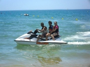 Javi and kate on jet ski