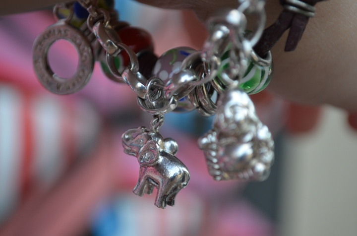 Elephant Charms, Exotic Orange andSequins