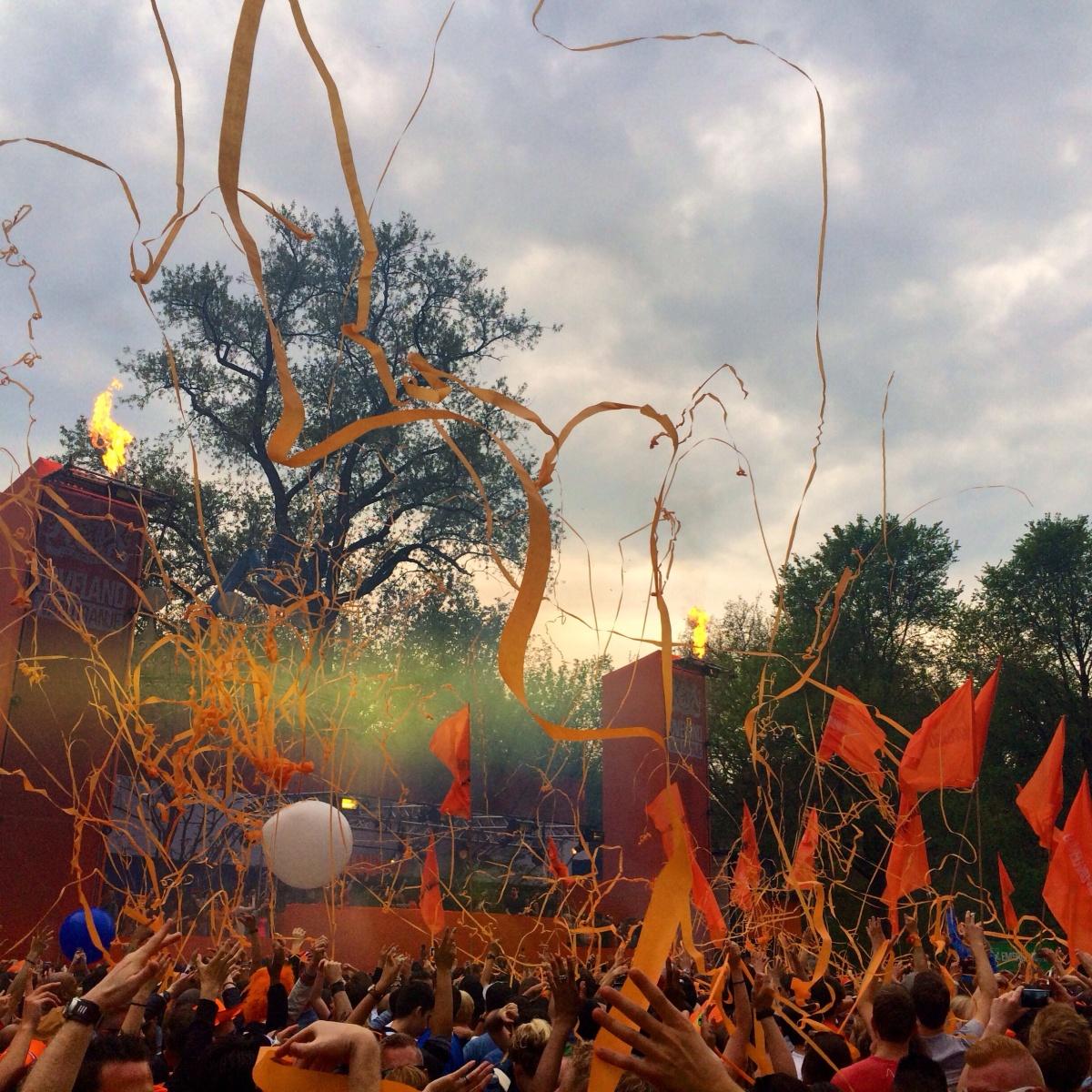Orange for Kings Day inAmsterdam