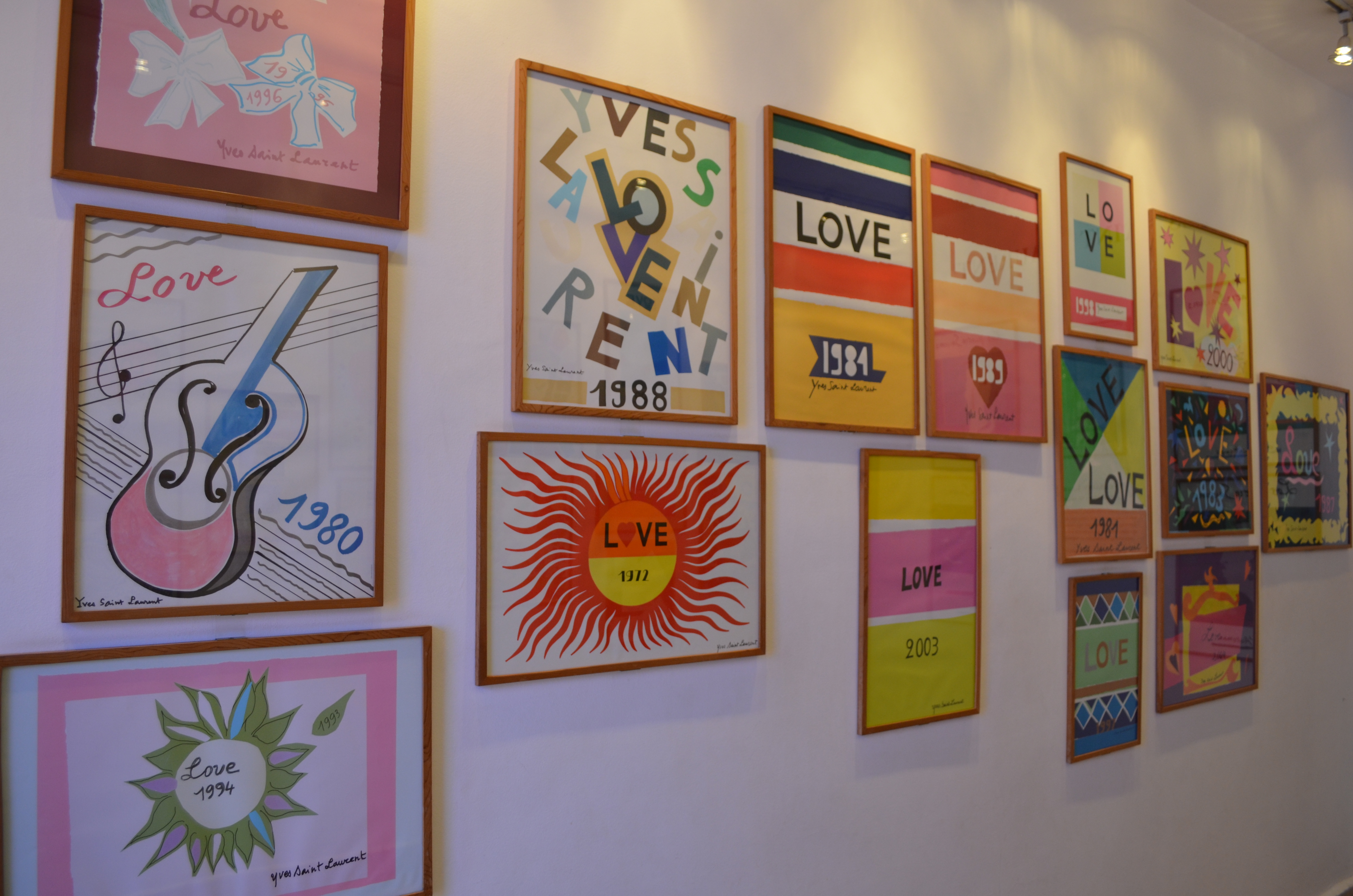 yves saint laurent love plakater