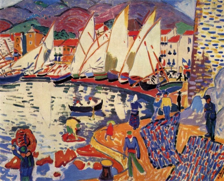André_Derain,_1905,_Le_séchage_des_voiles_(The_Drying_Sails),_oil_on_canvas,_82_x_101_cm,_Pushkin_Museum,_Moscow._Exhibited_at_the_1905_Salon_d'Automne