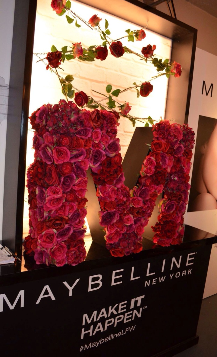 Backstage with Maybelline at London Fashion Week